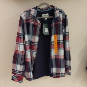 NWT Orvis brand XXL ladies plaid shirt jacket